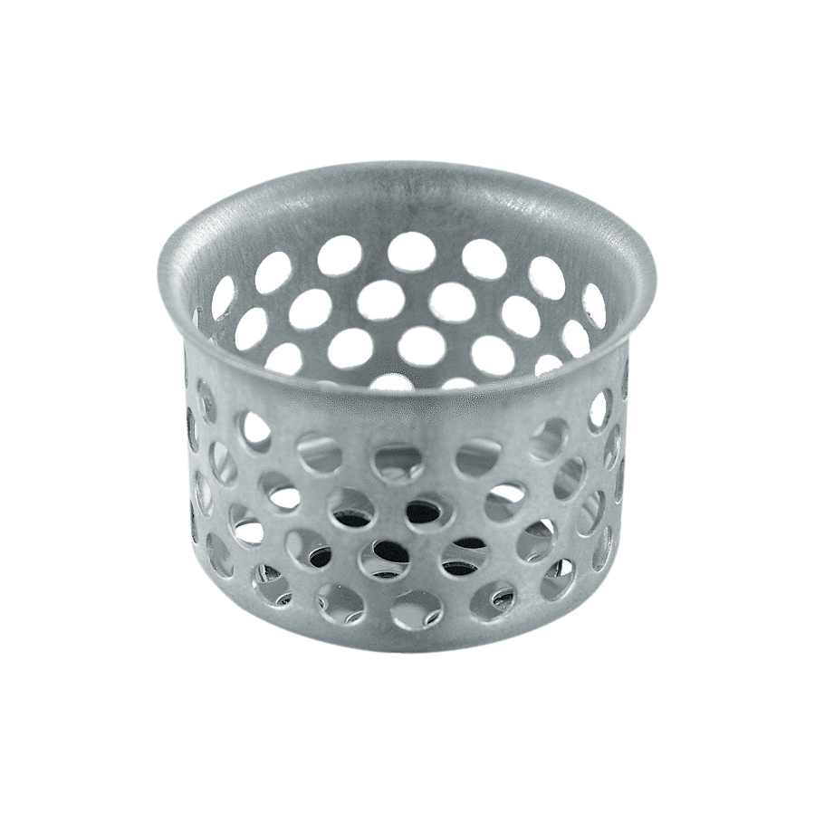 shop waxman 1 125 in dia stainless steel sink strainer basket at
