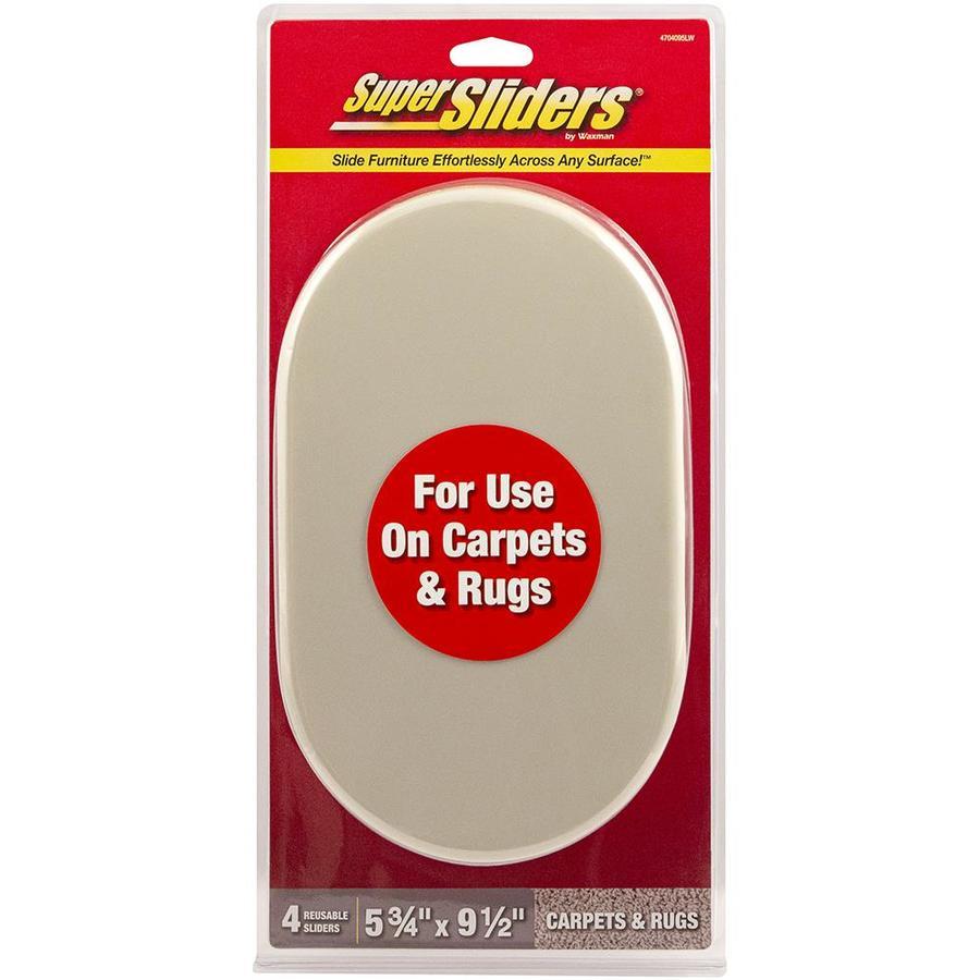 b21cd85b6b49 Super Sliders 4-Pack 9-1/2-in x 5-3/4-in Oval Reusable Plastic ...