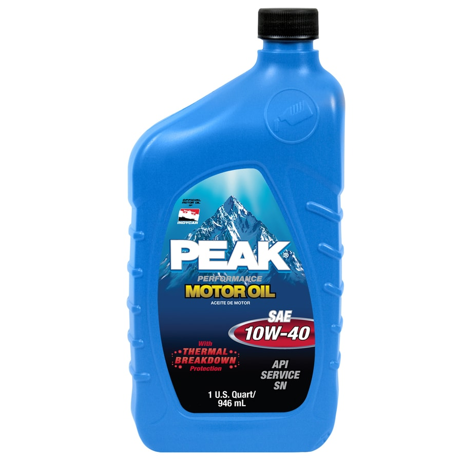 Shop peak quart peak motor oil 10w40 at for Quart of motor oil