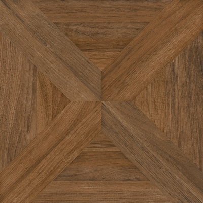 Villanova Brown Ceramic Wood Look Dimensional Floor Tile Actual 17 32 In X