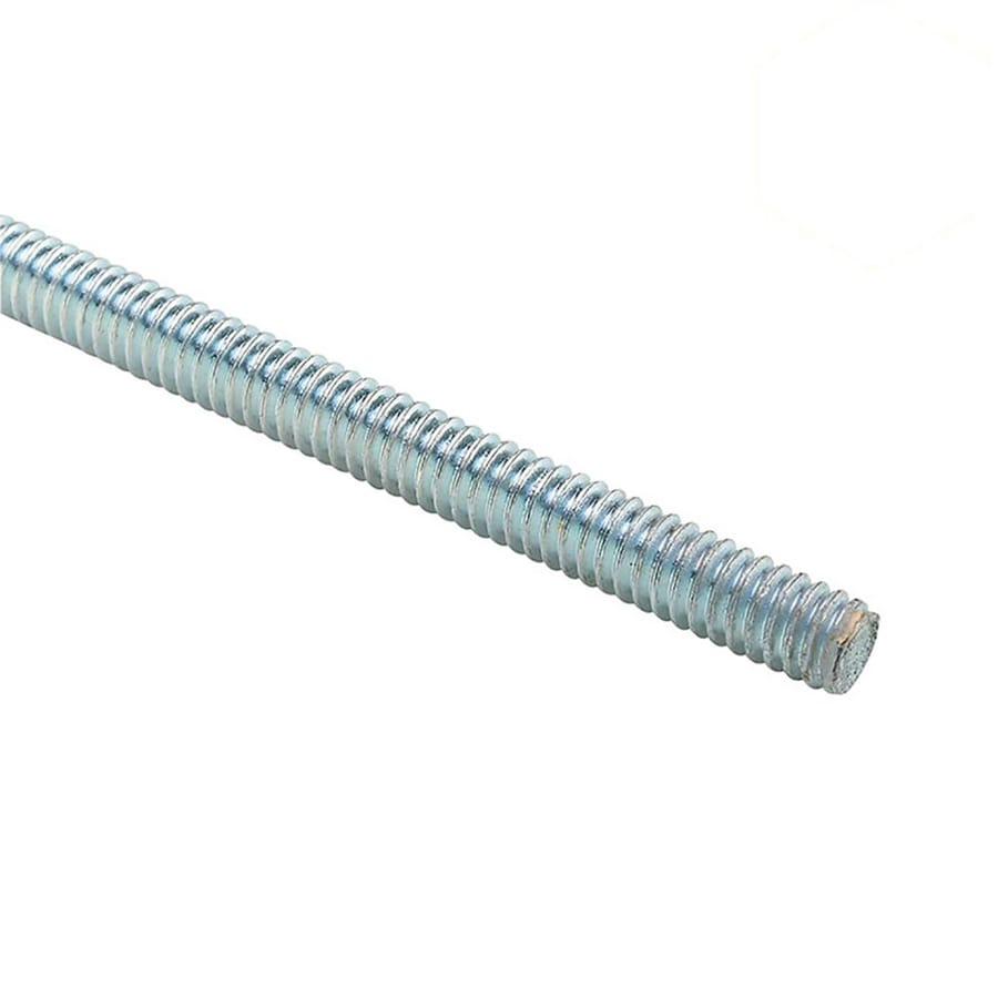 STEEL CITY 0.375-in x 120-in Standard (SAE) Threaded Rod