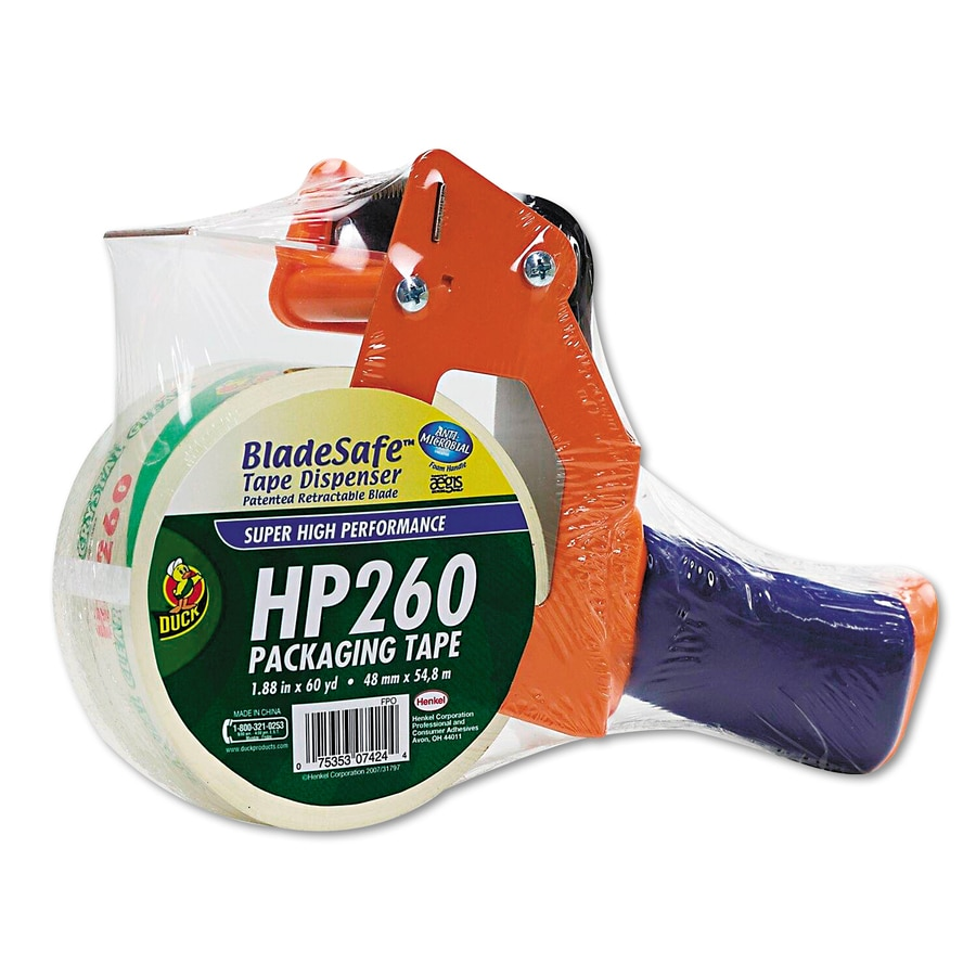 Duck Bladesafe Duck Antimicrobial Tape Gun with Tape, Metal/Plastic, Orange