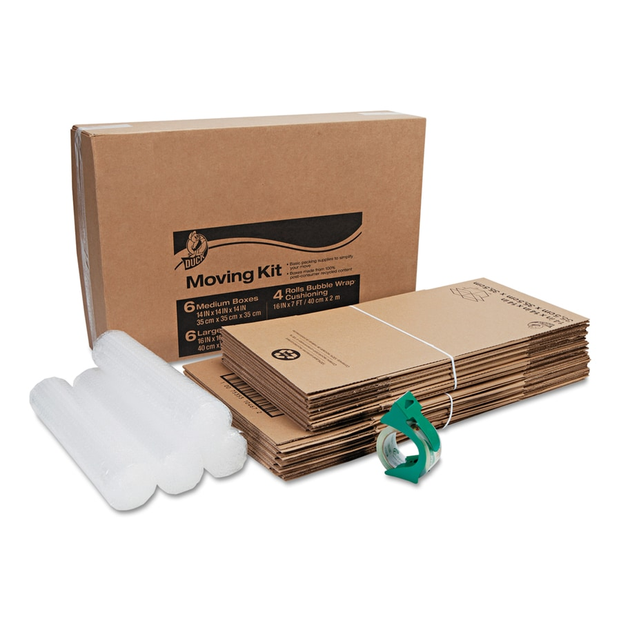 Duck Basic 12-Pack Large Cardboard Moving Box Kit Moving Box (Actual 16-in x 16-in)