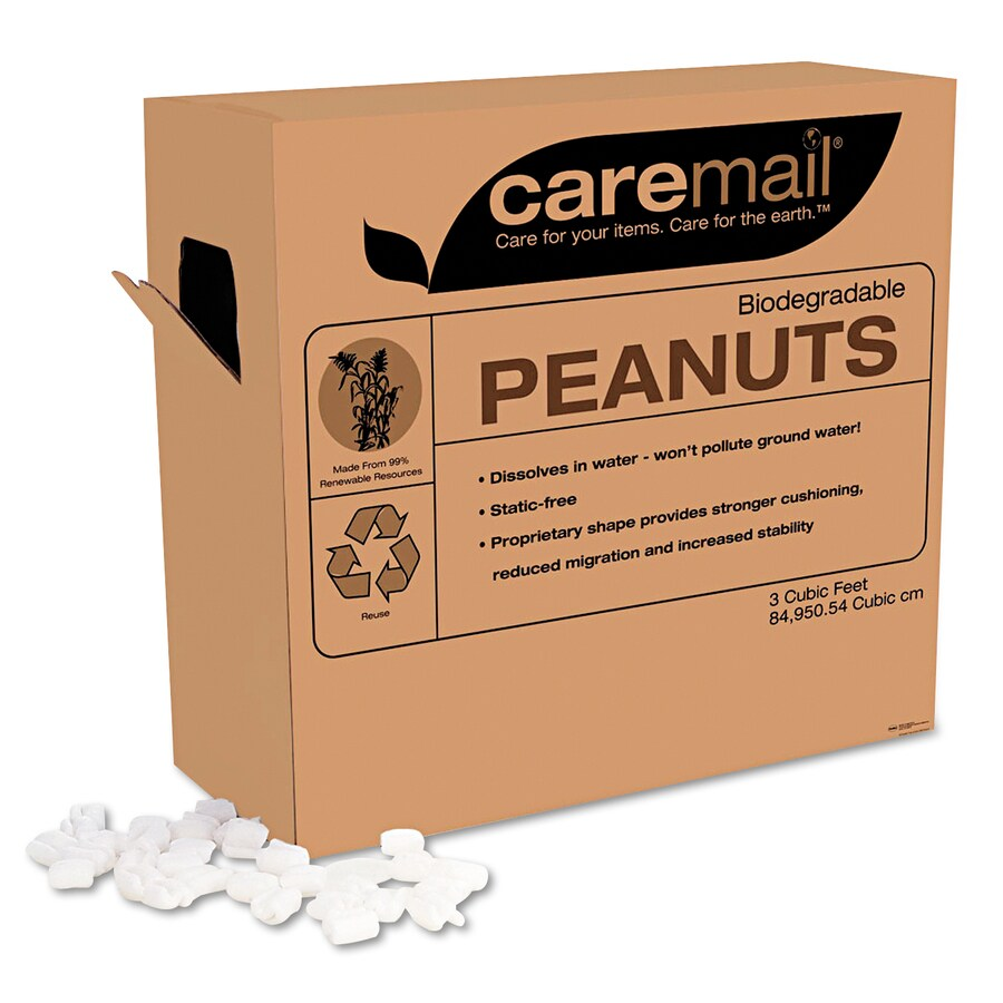 Caremail 10.25-in x 23.75-in Organic Starch Foam Peanuts