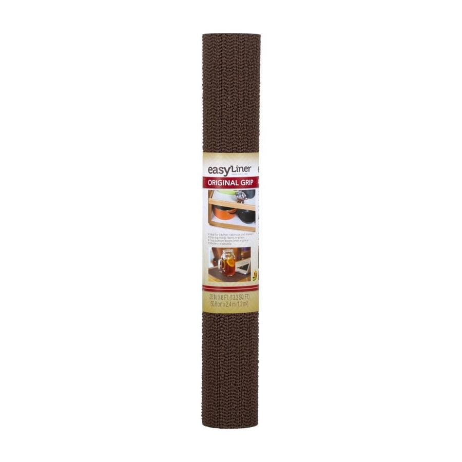 Duck Covers 20-in x 8-ft Chocolate Brown Shelf Liner