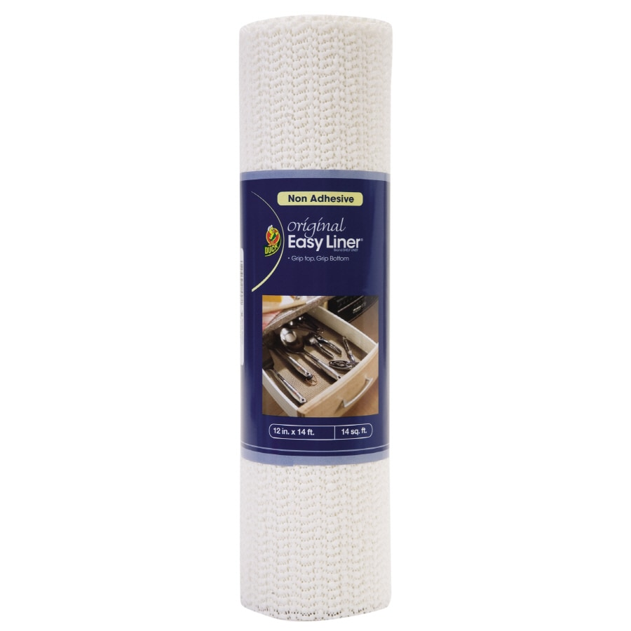 Duck 14-ft x 12-in White Shelf Liner