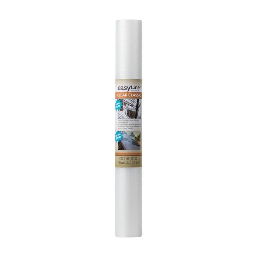 Duck 24-in x 10-ft Clear Shelf Liner