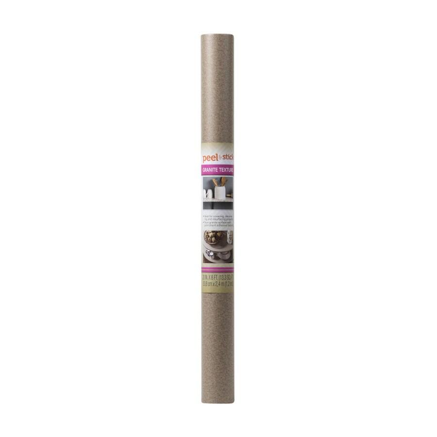 Duck 20-in x 8-ft Granite Brown Shelf Liner