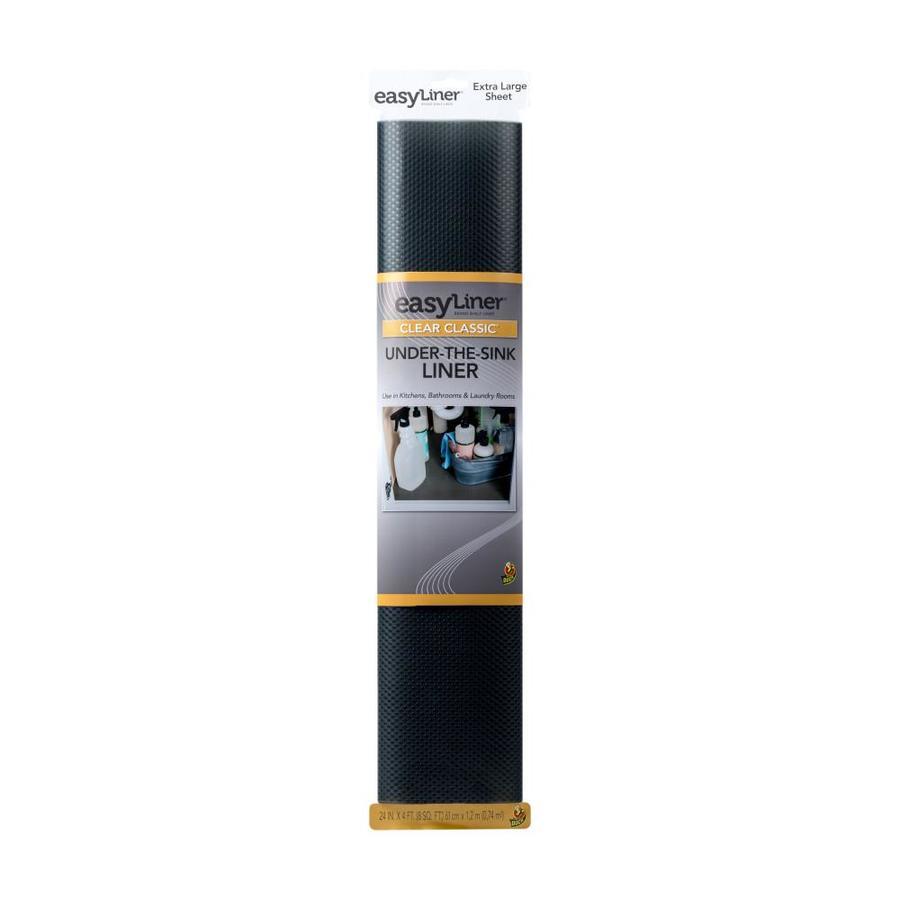 Shop Duck 24-in X 4-ft Black Shelf Liner At Lowes.com