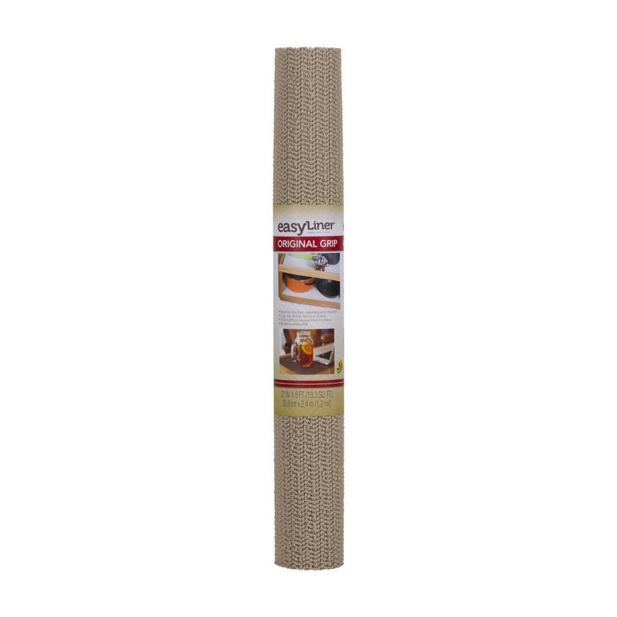 Duck 20-in x 8-ft Taupe Shelf Liner