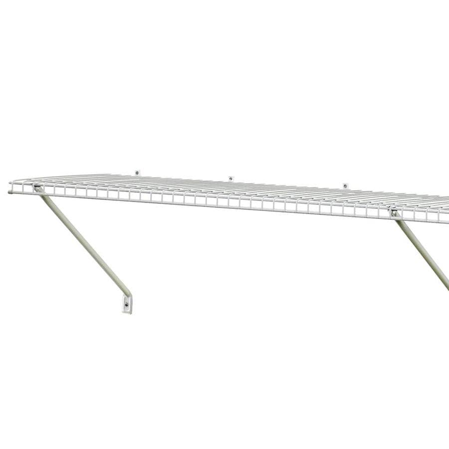 Shop ClosetMaid 6-ft x 12-in White Wire Shelf at Lowes.com