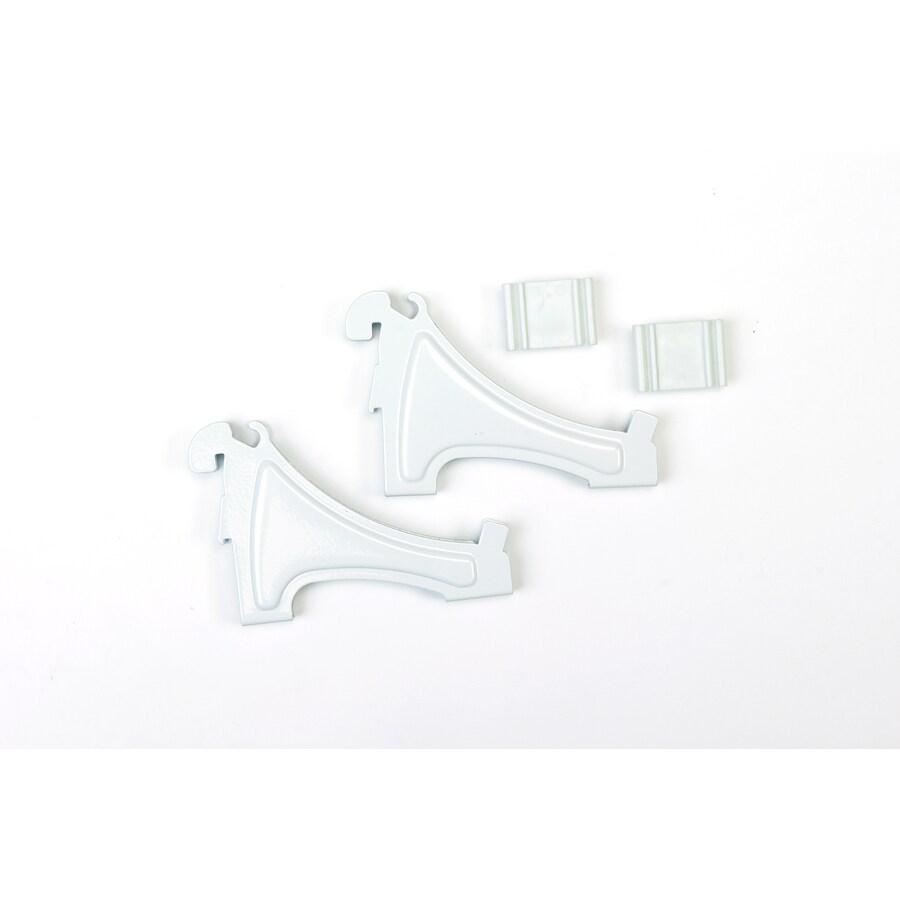 ClosetMaid White Bracket (Common: .5-in x 3-in x 4.5-in; Actual: .5-in x 3-in x 4.5-in)