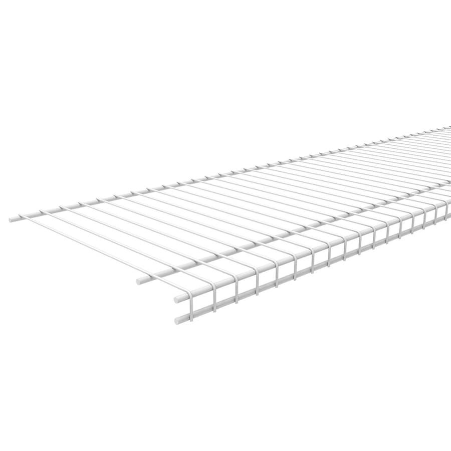 ClosetMaid 8-ft L x 12-in D White Wire Shelf - Shop Wall Mounted Shelving At Lowes.com