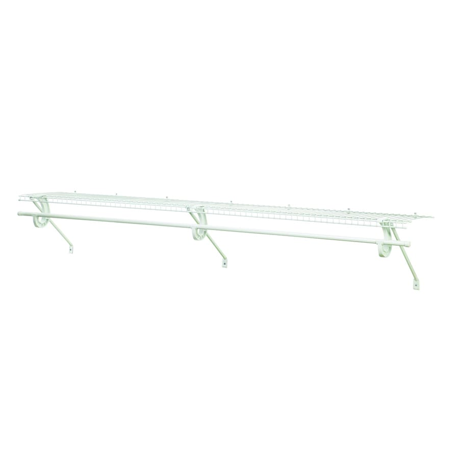 Shop ClosetMaid 4-ft L x 12-in D White Wire Shelf at Lowes.com