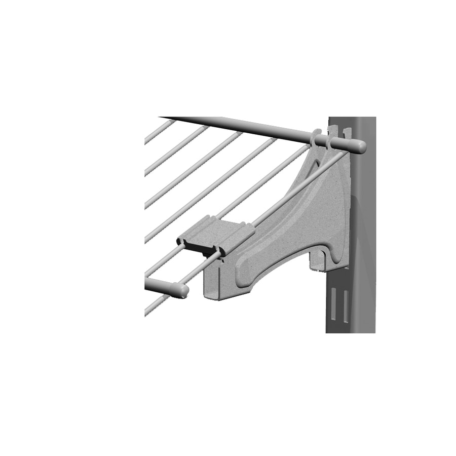 ClosetMaid Satin Chrome Shoe Bracket Common 5 In X 3