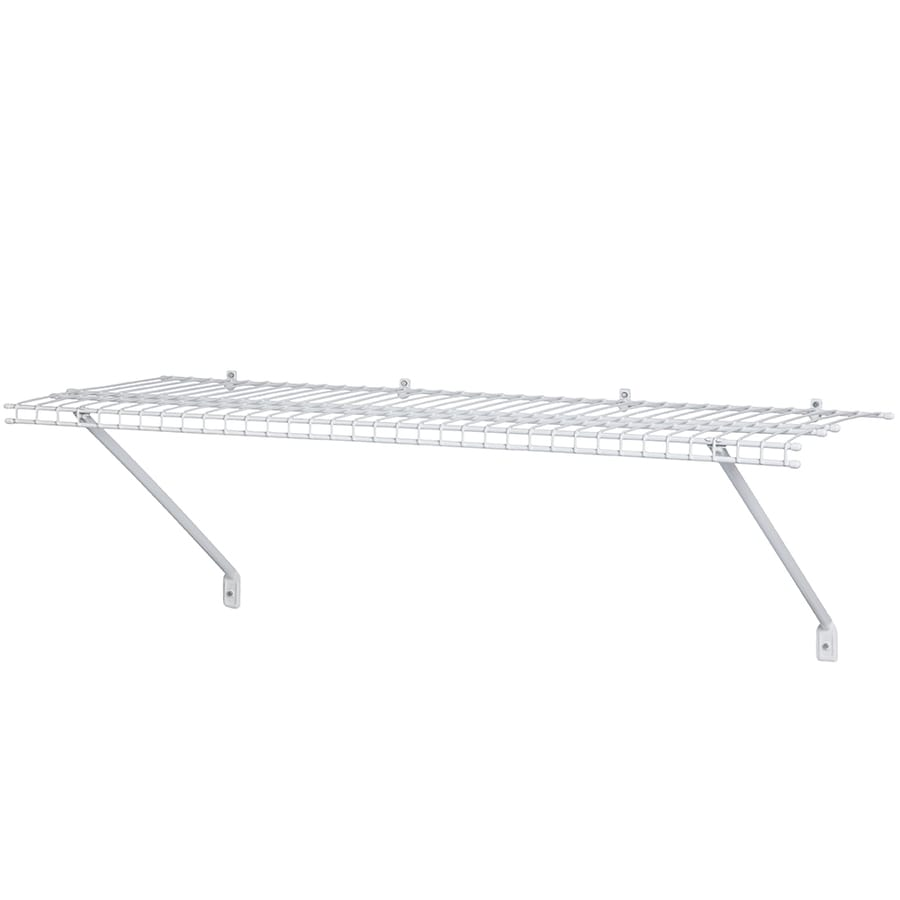 Shop ClosetMaid 3-ft x 12-in White Wire Shelf at Lowes.com