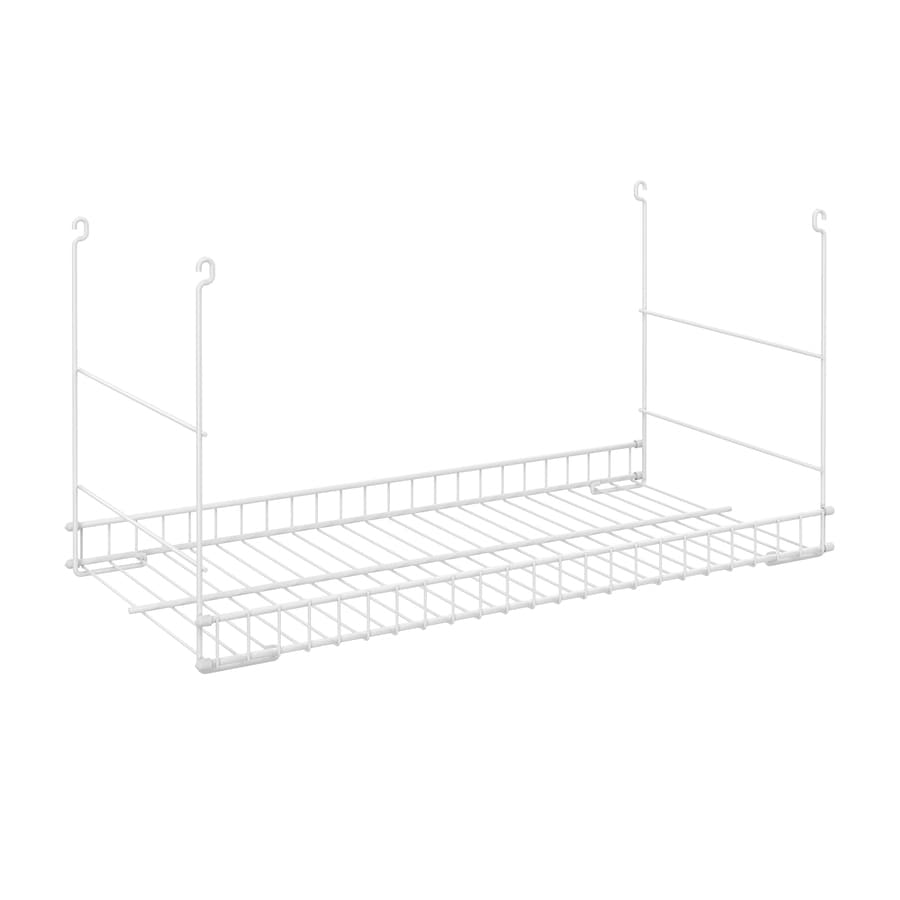 Hanging Wire Shelving | Closetmaid White Wire Add On Hanging Kit At Lowes Com