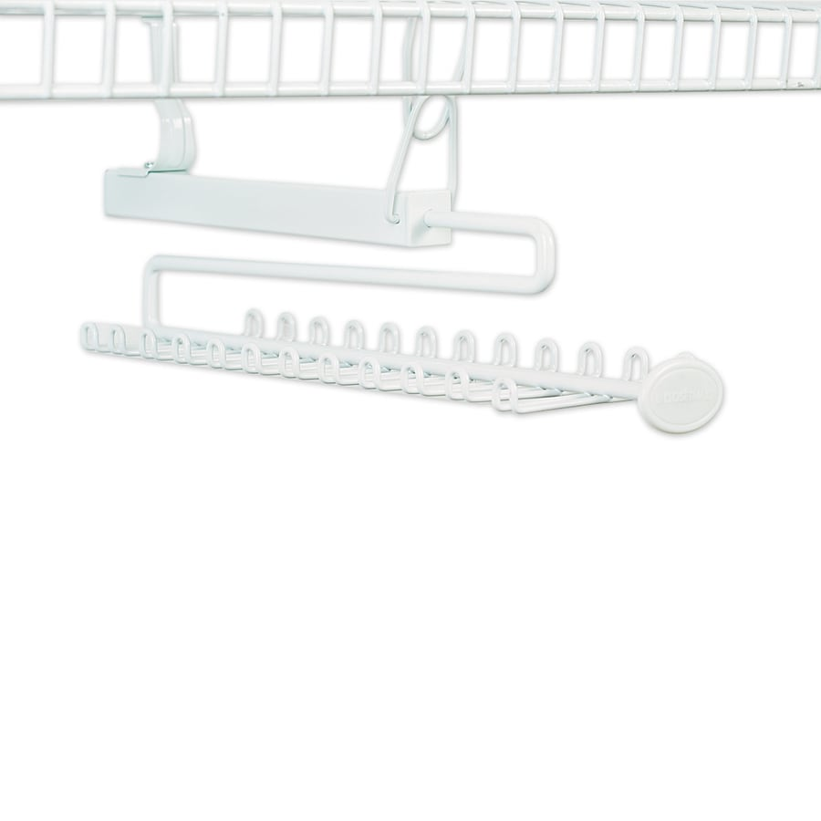 ClosetMaid White Wire Sliding Tie And Belt Rack