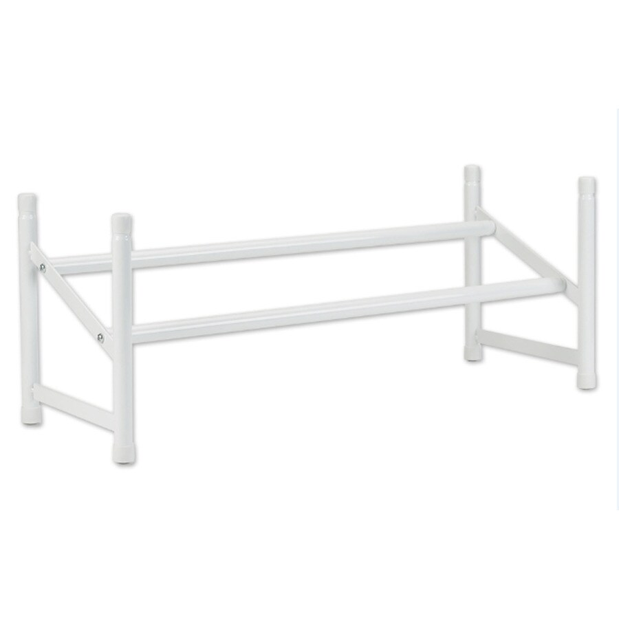 ClosetMaid 5 Pair White Metal Shoe Rack