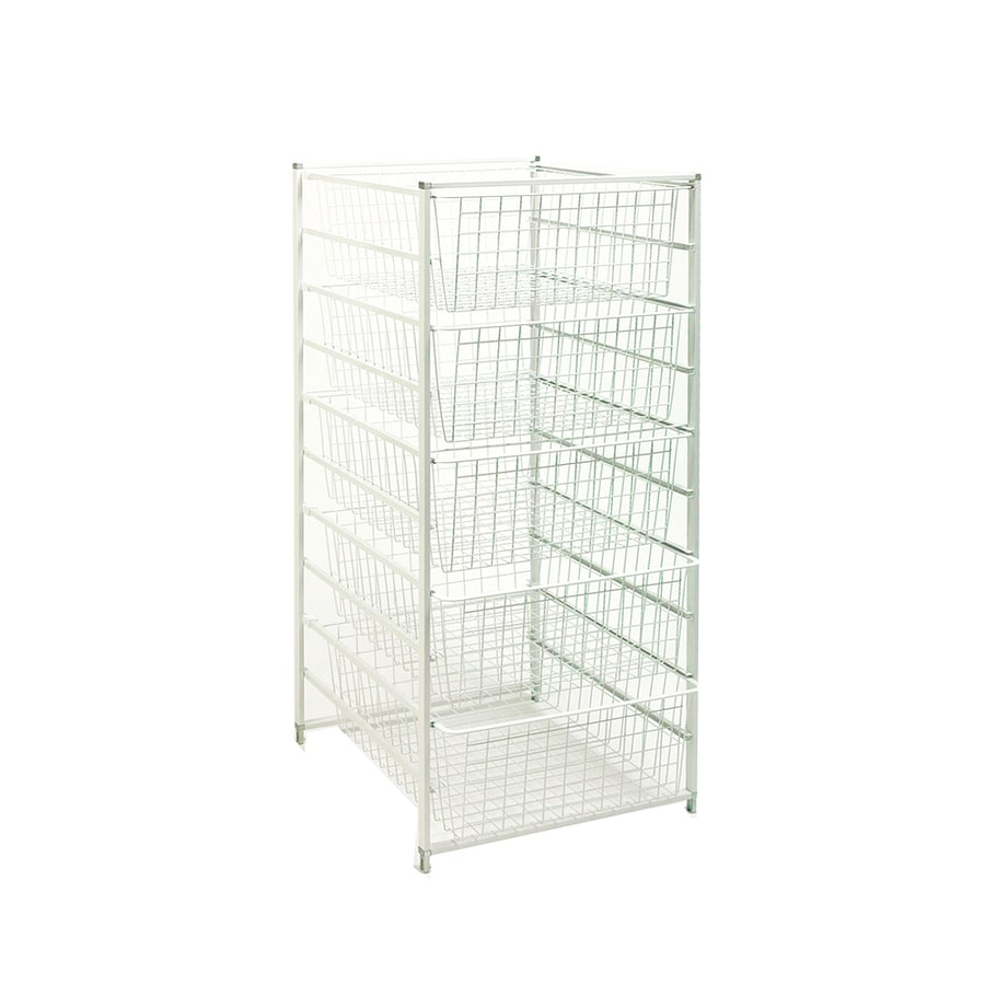 ClosetMaid 17.75-in W x 21-in D White Steel Basket