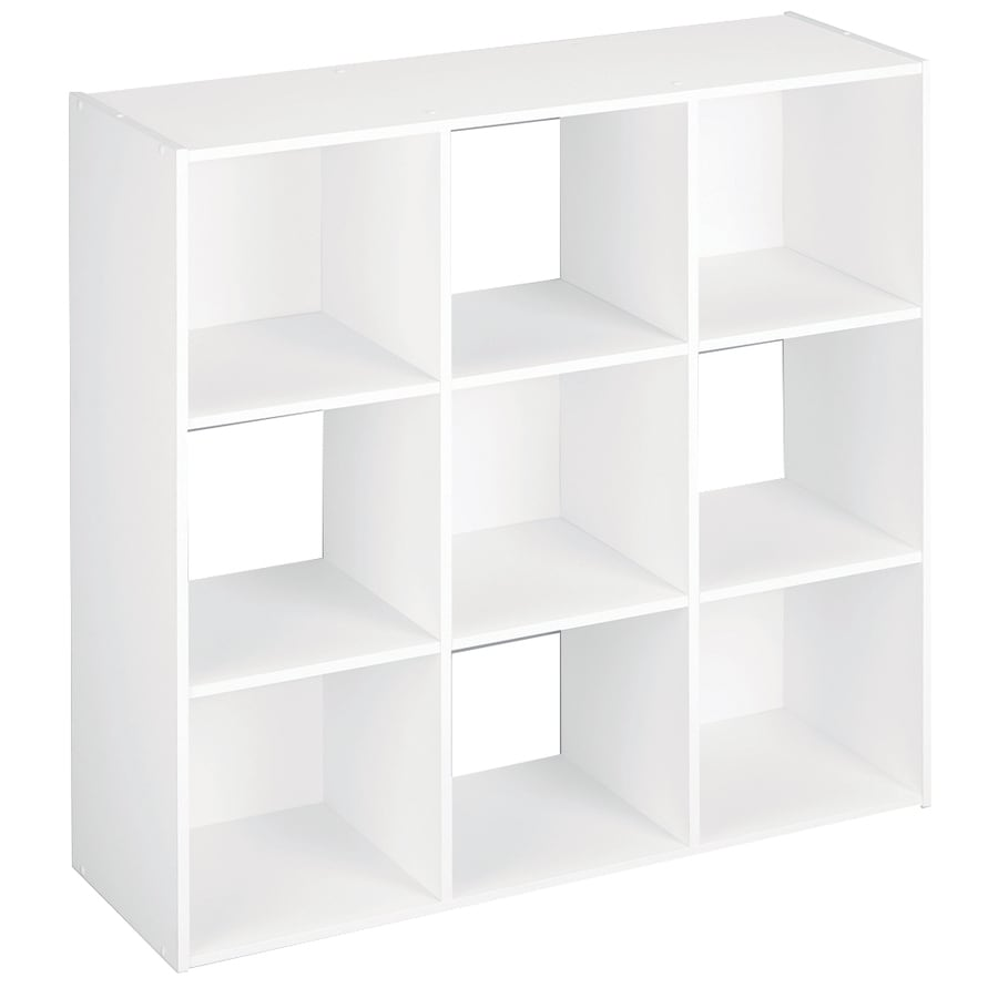 Superbe ClosetMaid 9 White Laminate Storage Cubes