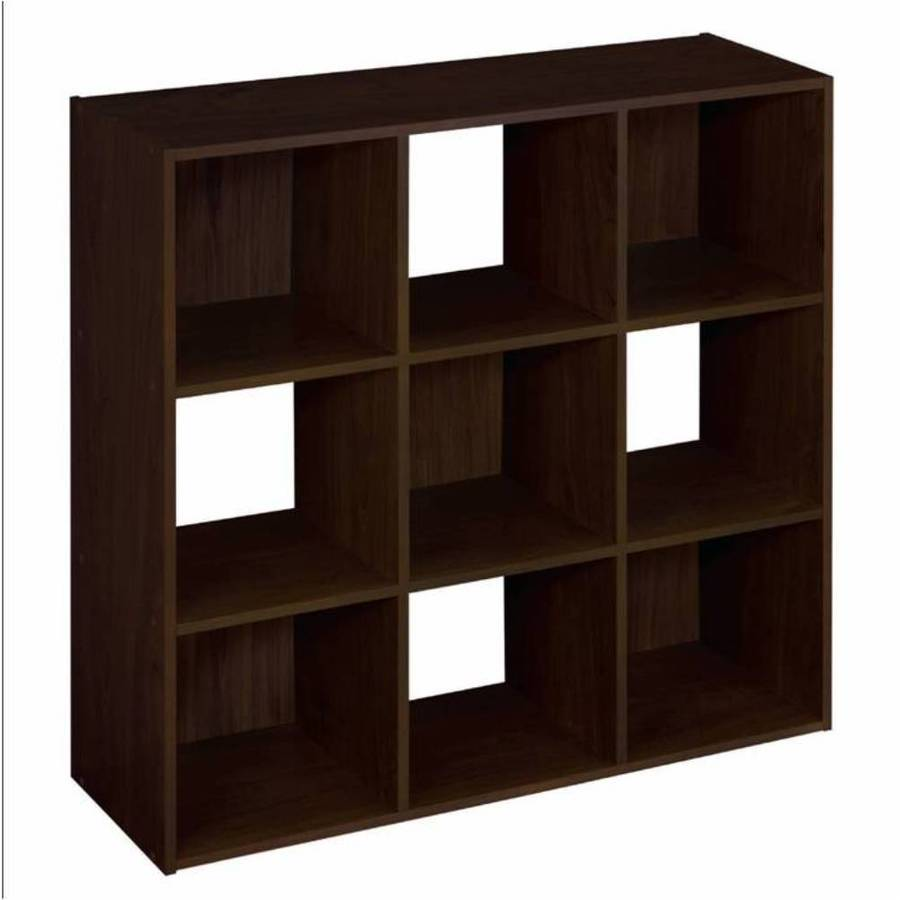 Charming ClosetMaid 9 Espresso Laminate Storage Cubes