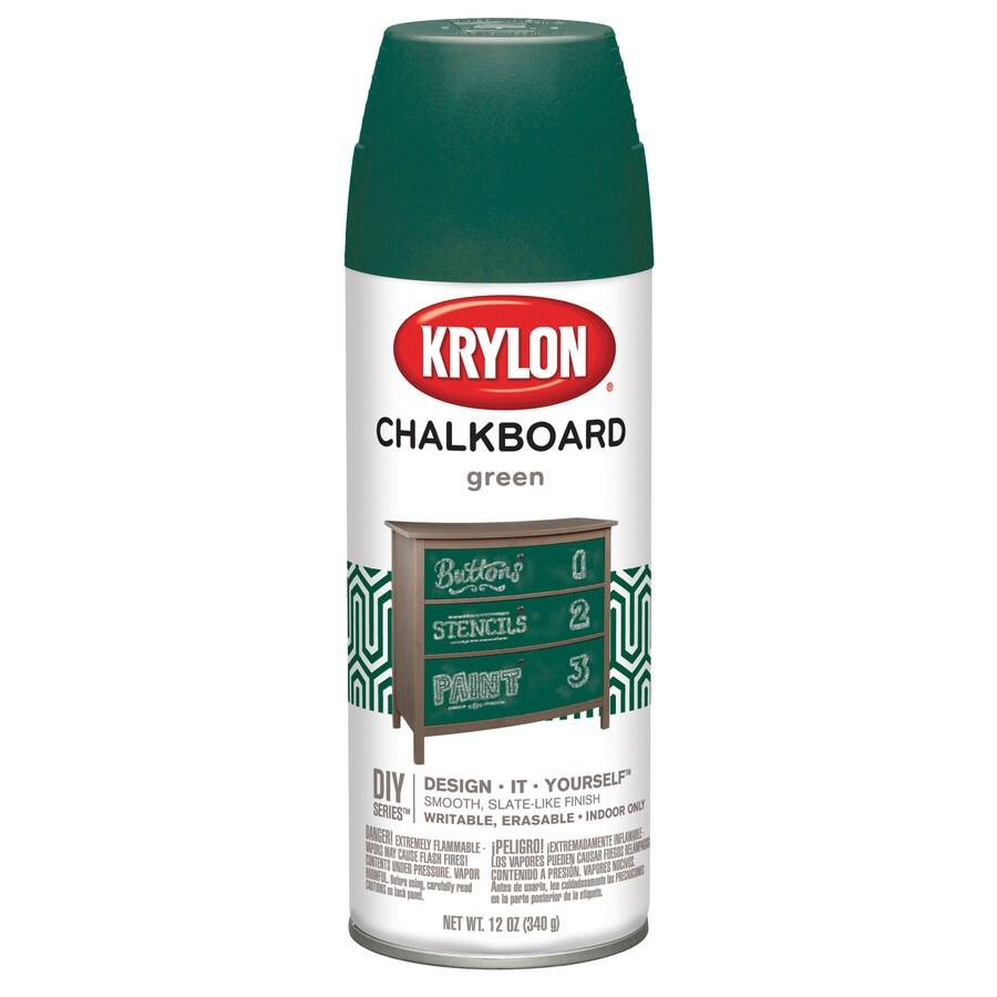 Krylon Green Enamel Chalkboard Paint (Actual Net Contents: 12-fl oz)