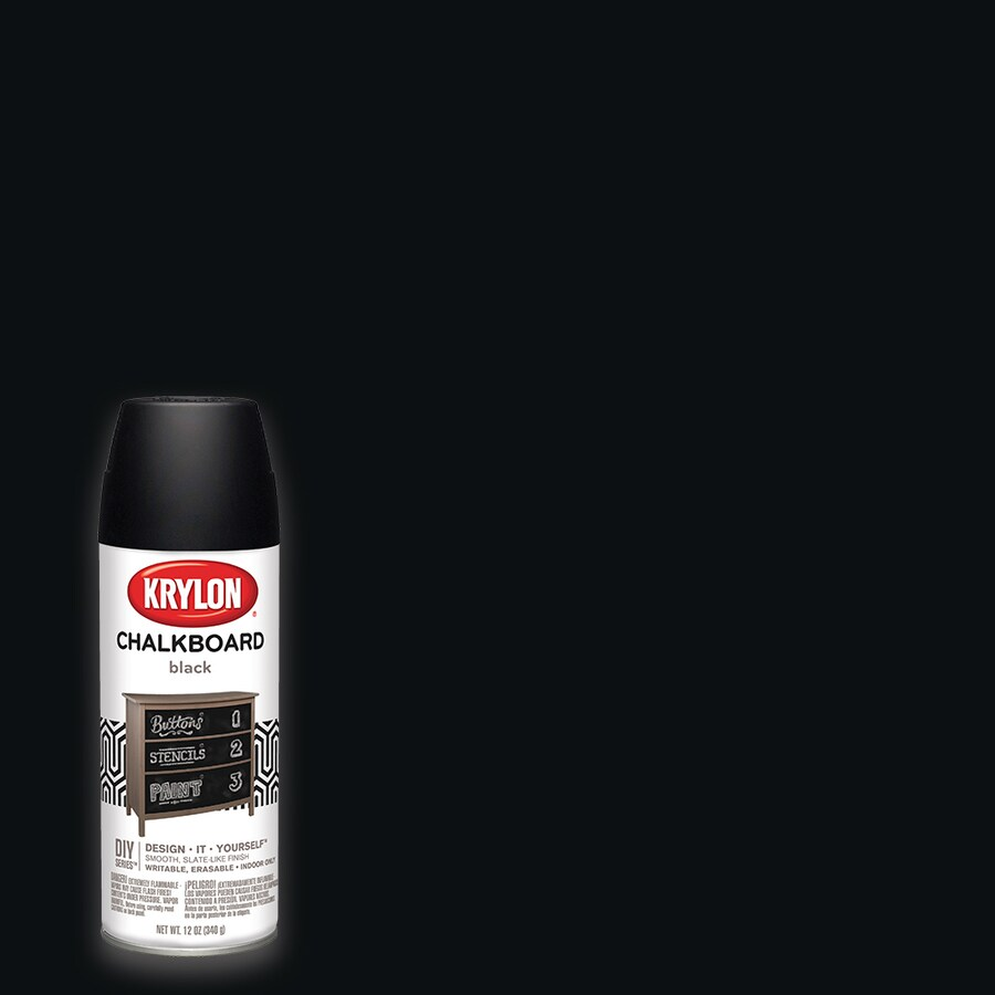 Krylon Black Chalkboard Enamel Spray Paint (Actual Net Contents: 12-oz)