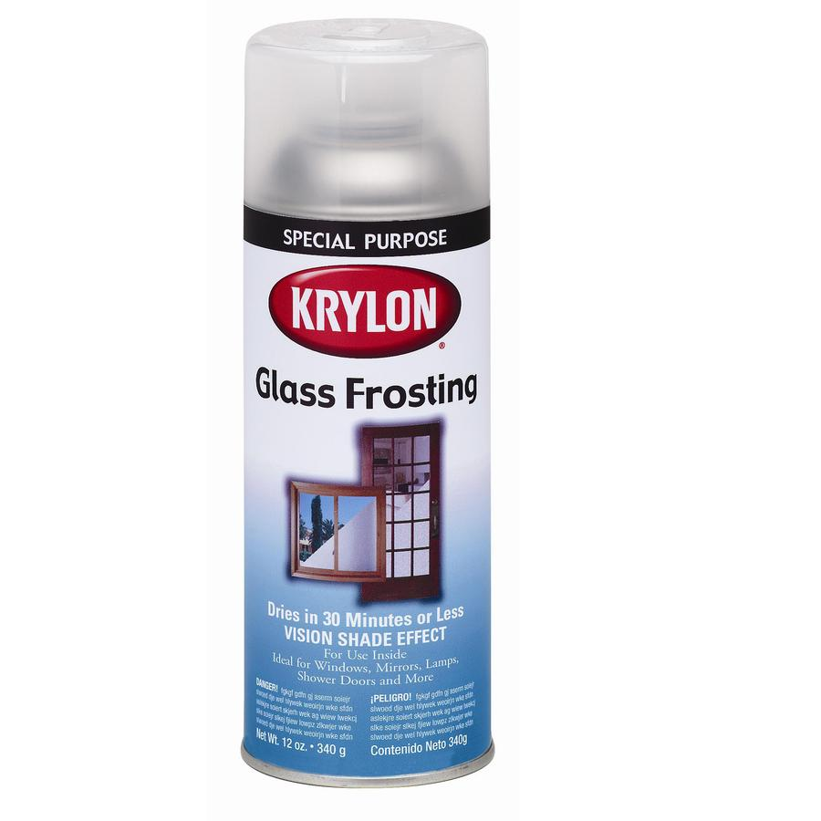 Krylon White Frosted Spray Paint (Actual Net Contents: 12-oz)