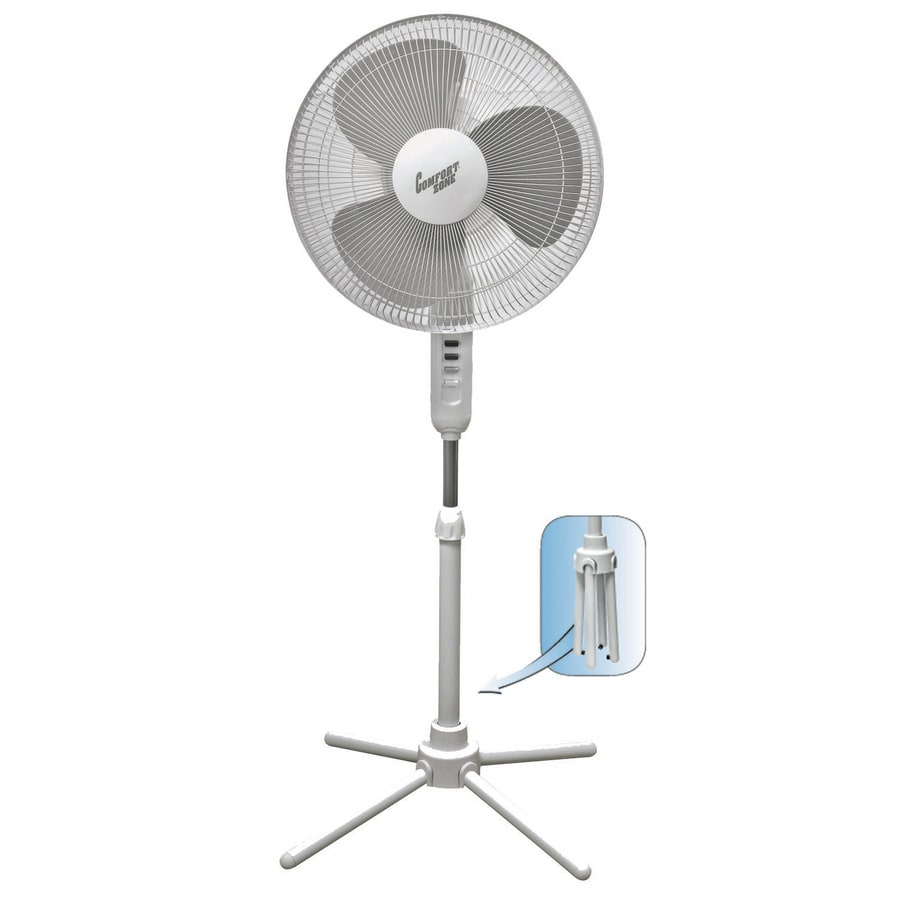 Oscillating Stand Fan : Shop comfort zone in speed oscillating stand fan at
