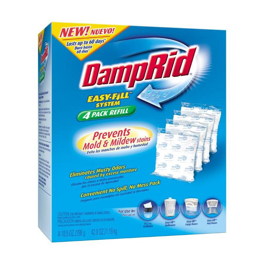DampRid 4-Count Moisture Absorber Fill System Refill