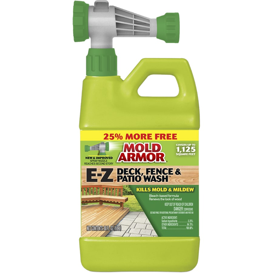 Homemade wood deck cleaning solution for Patio cleaning solution