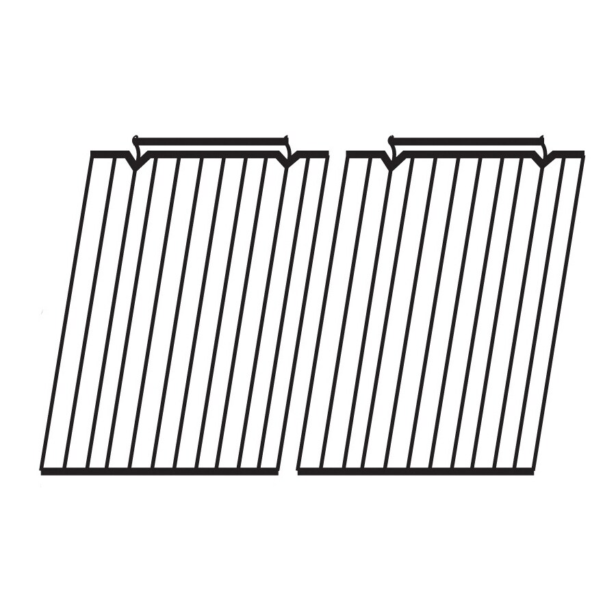 Heavy Duty BBQ Parts 2-Pack Rectangle Stainless Steel Cooking Grate