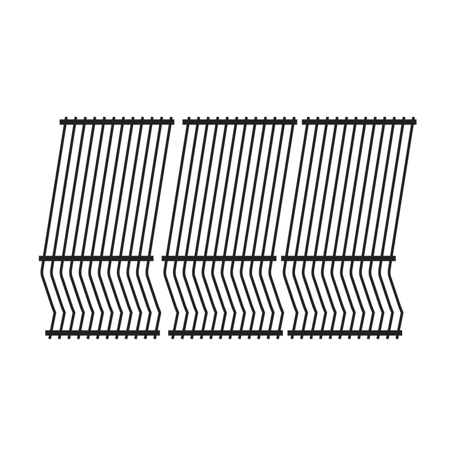 Heavy Duty BBQ Parts 3-Pack Rectangle Stainless Steel Cooking Grate