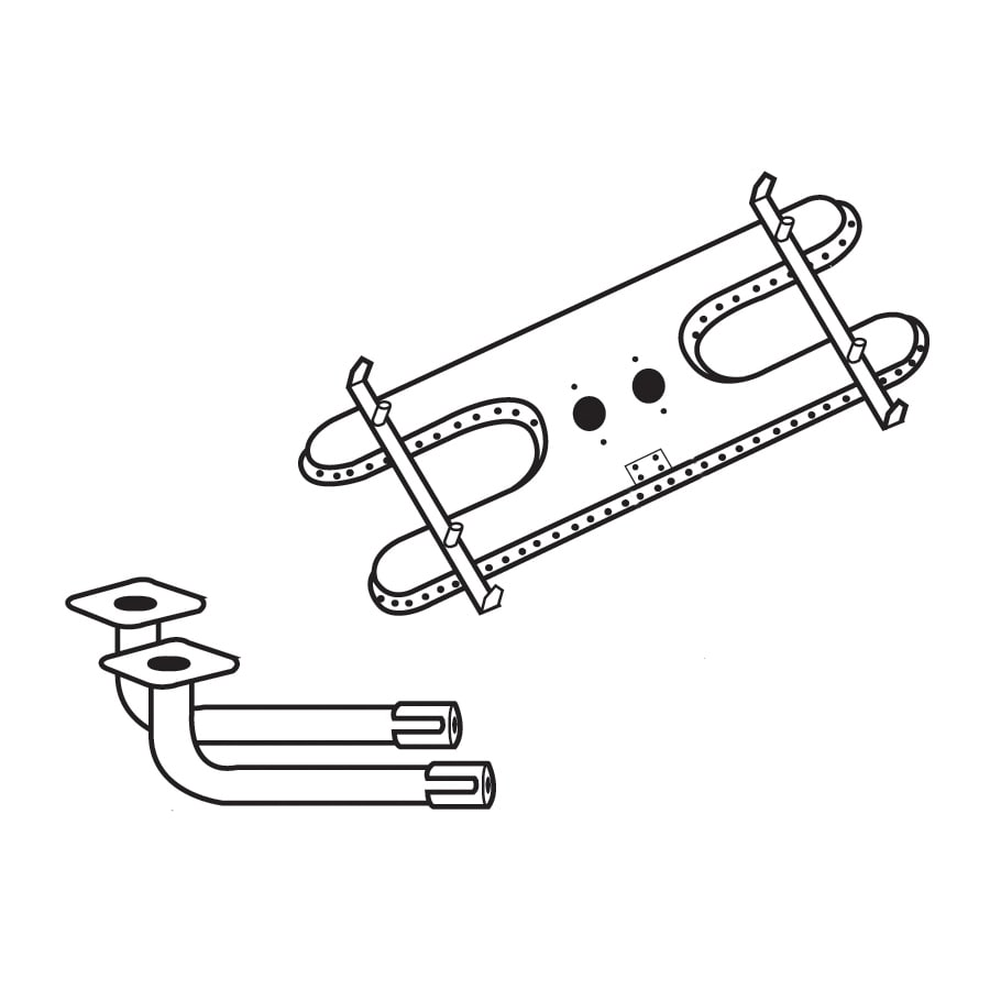 Heavy Duty BBQ Parts 17.25-in Stainless Steel Bar Burner