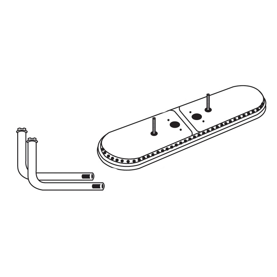 Heavy Duty BBQ Parts 19-in Stainless Steel Bar Burner