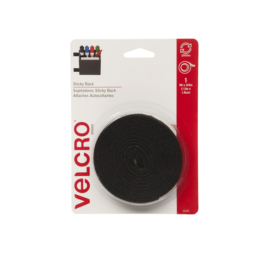 VELCRO 0.75-in x 60-in Black Rectangle Fastener