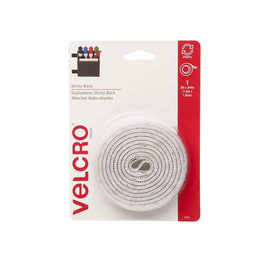 VELCRO 0.75-in x 60-in White Rectangle Fastener