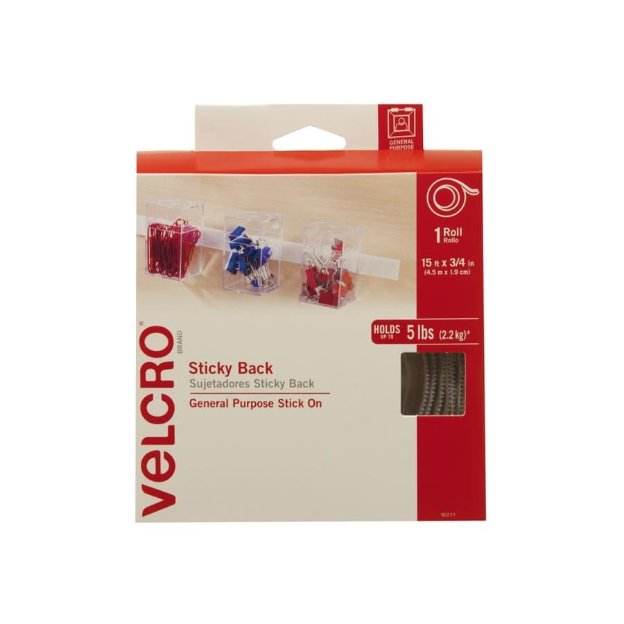 VELCRO 2-Pack 0.75-in x 280-in White Rectangle Fasteners