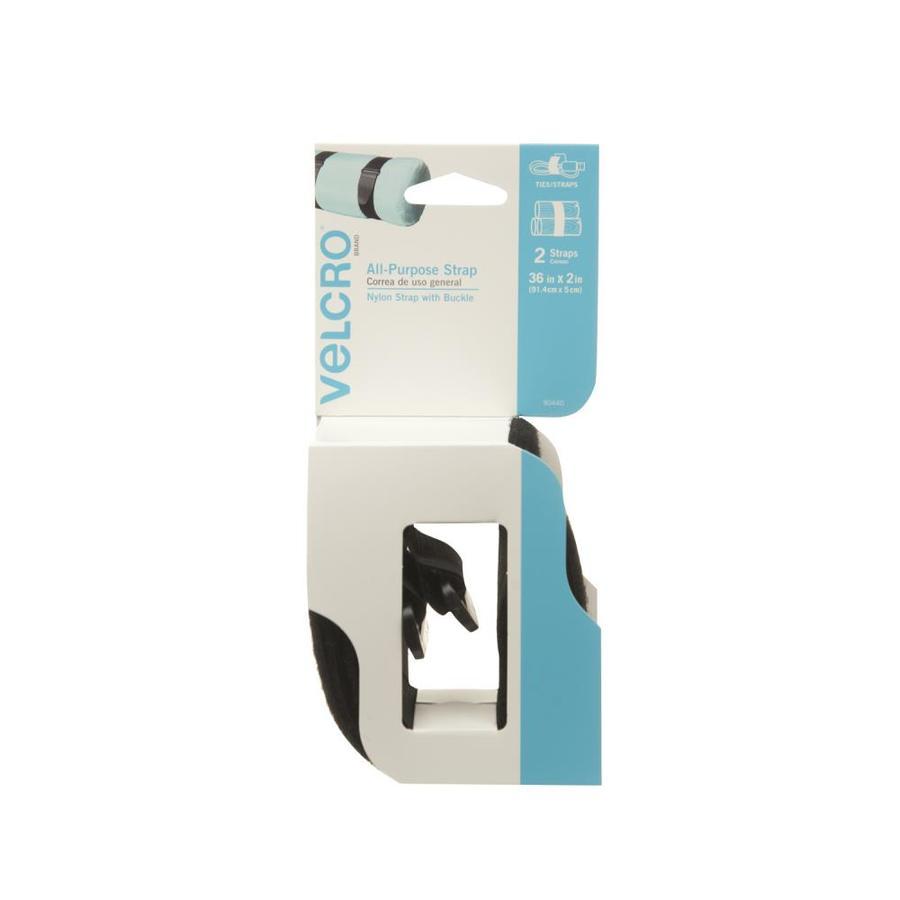 VELCRO 2-Pack 2-in Black Strap Fastener