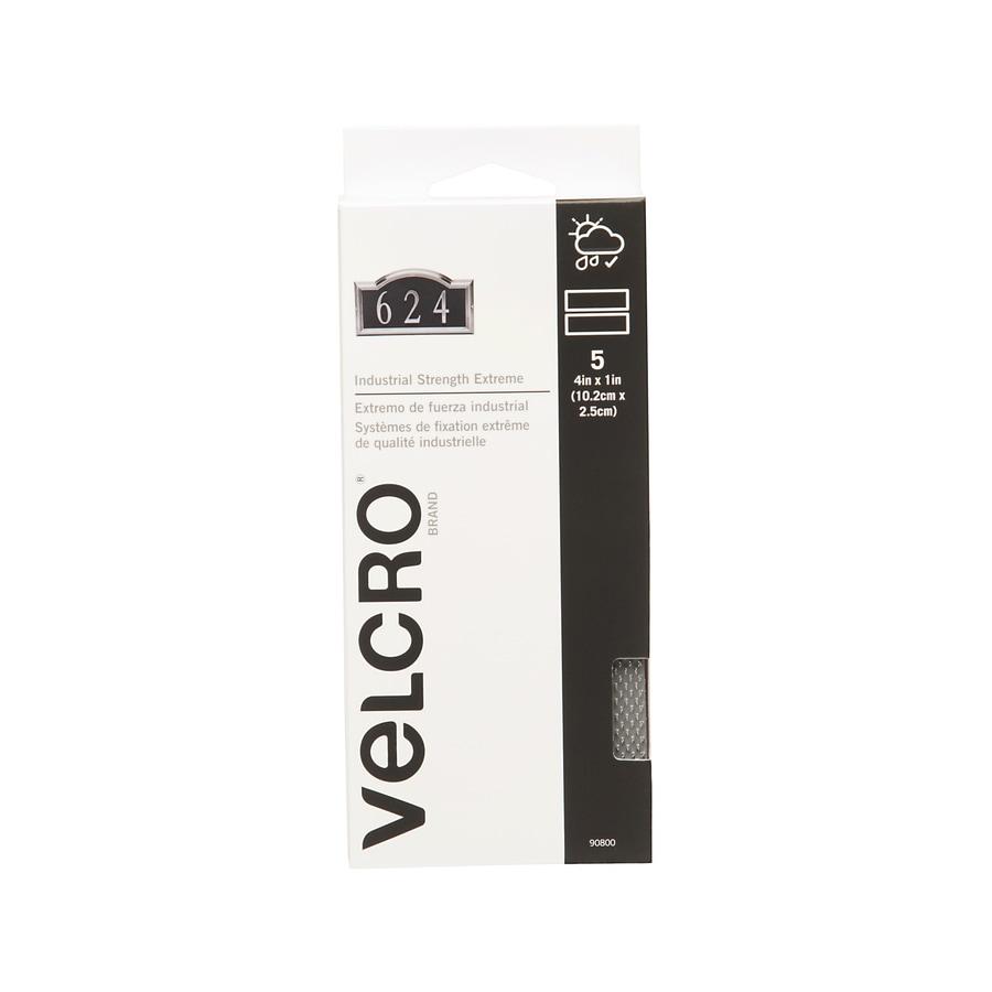 VELCRO 1-in x 4-in Gray Rectangle Fastener