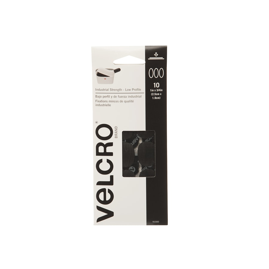 VELCRO 10-Pack 0.75-in x 1-in Black Round Fasteners