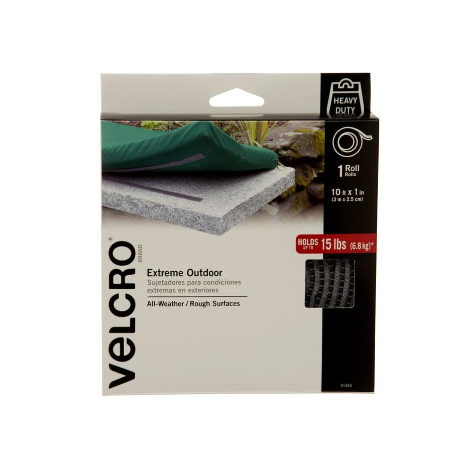 VELCRO 4-Pack 1-in x 120-in Gray/Silver Rectangle Fasteners