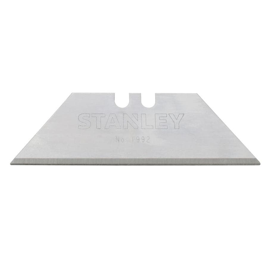 Stanley 100-Pack 7-1/2-in Carbon Steel Serrated Replacement Utility Blades