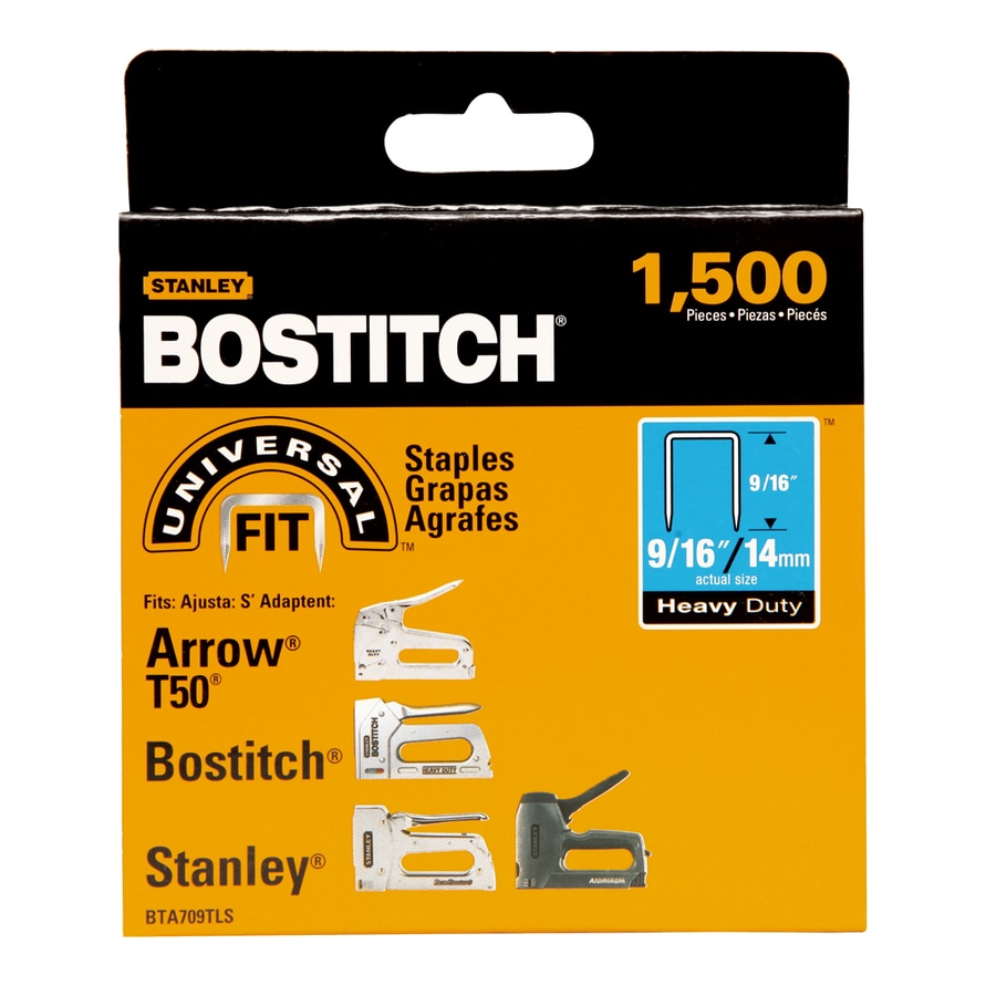 Bostitch 1,500-Count 9/16-in Construction Staples