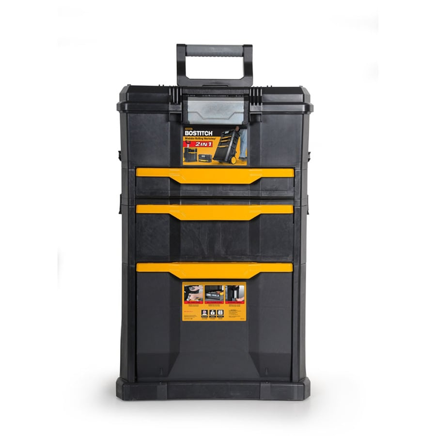 Stanley 31-in x 19.25-in 3-Drawer Ball-Bearing Plastic Tool Cabinet (Black)