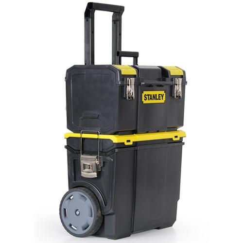 Stanley 11 5 In Plastic Lockable Wheeled Tool Box Black