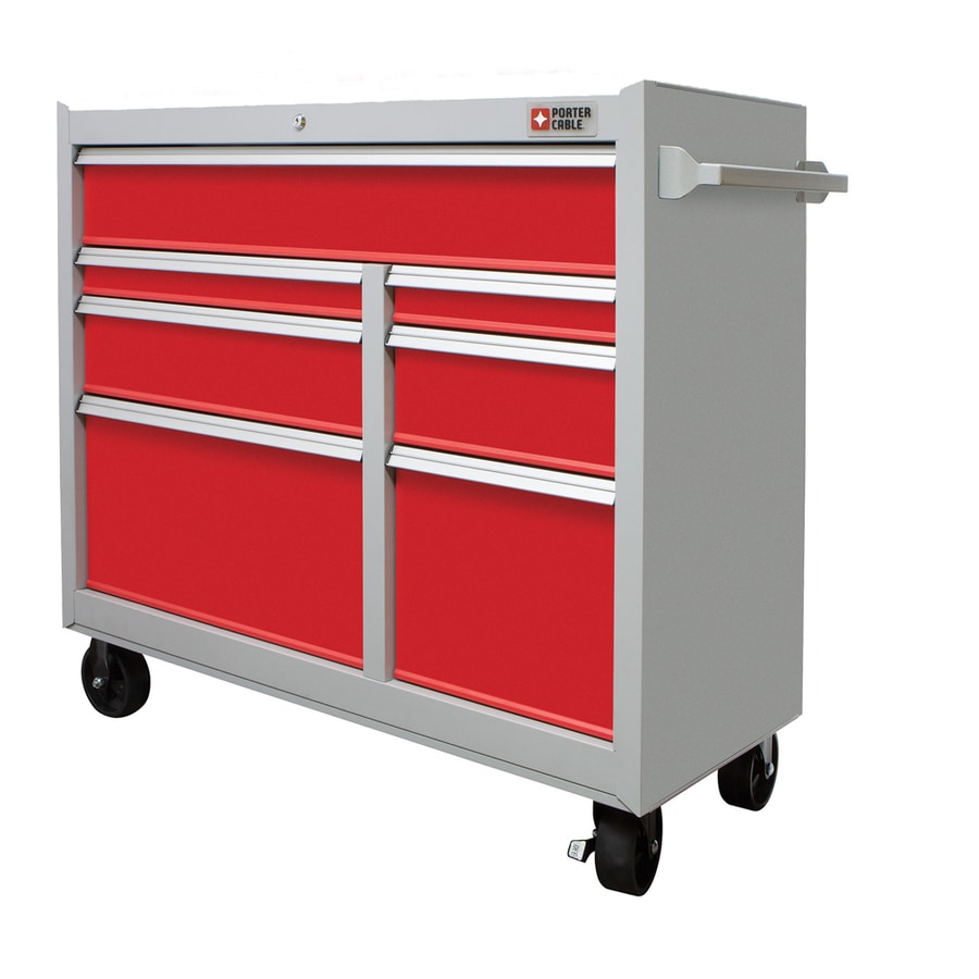 Shop PORTER-CABLE 39.6-in x 41-in 7-Drawer Ball-Bearing Steel Tool ...