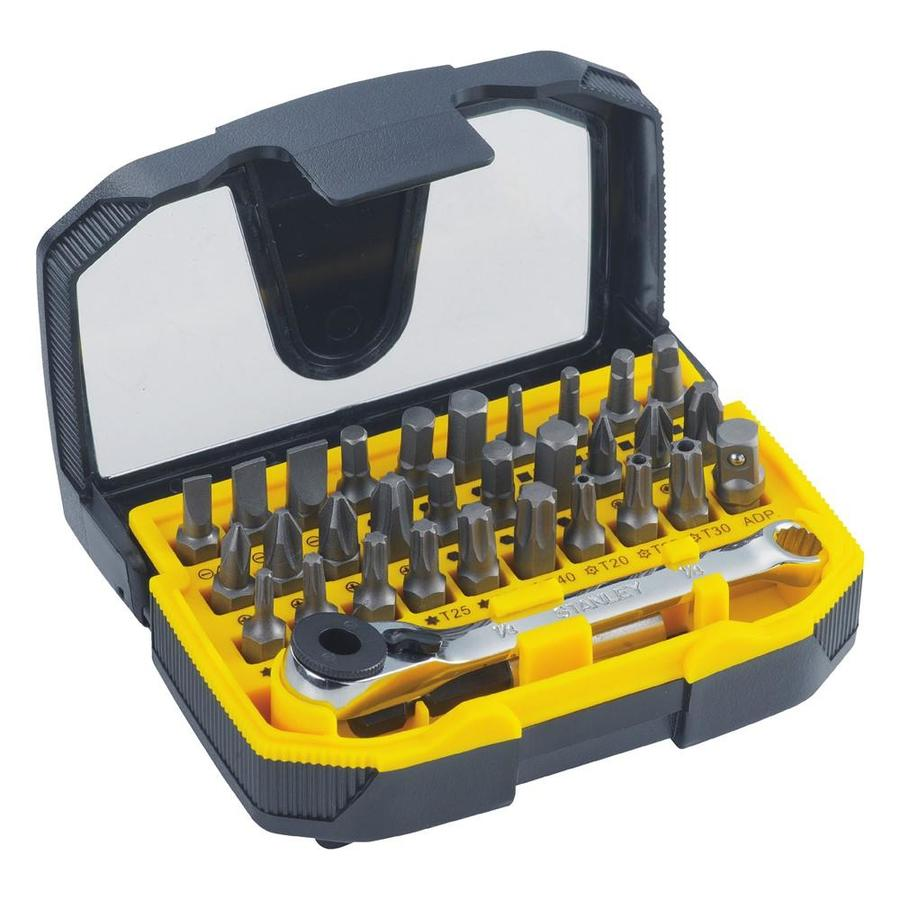 Stanley 32 Pack Screwdriver Bit Set At Lowes Com