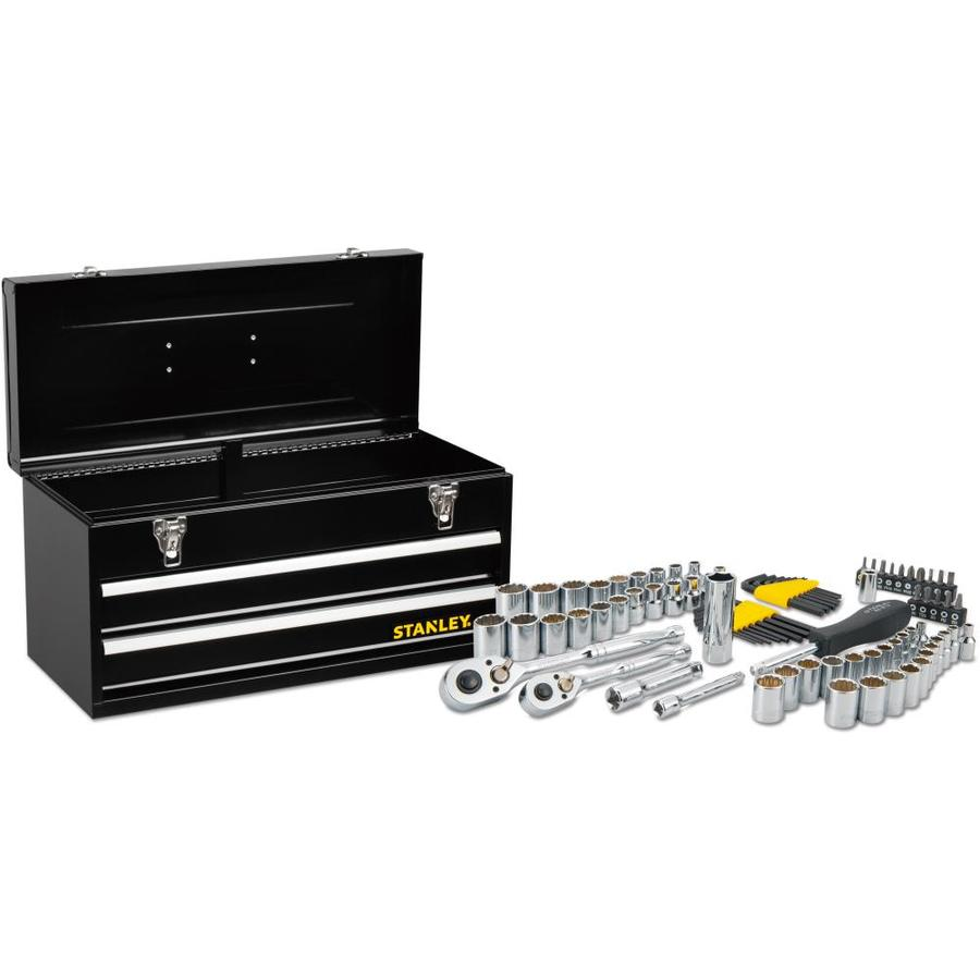 Stanley 81-Piece Standard (SAE) and Metric Mechanic's Tool Set with Tool Chest